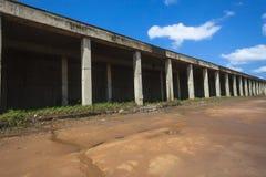 Talleres inacabados abandonados Foto de archivo