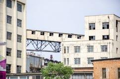 Talleres y edificios de fábricas imagenes de archivo
