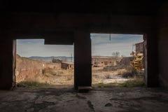 Talleres y minas de Alquife de los almacenes imagen de archivo libre de regalías