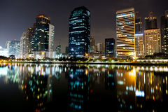 Tallest building in Bangkok, at night. Royalty Free Stock Photography