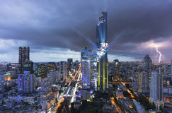 Tallest building in Bangkok, Thailand. Mahanakorn Tower Stock Images