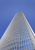 The tallest building in Hong Kong. Against a blue sky royalty free stock photography