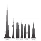 Tallest buildings of the world Royalty Free Stock Photography