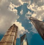 The tallest buldings in Shanghai, Pudong district stock images