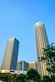Tallest Hotel. Raffles City and Swissotel stamford hotel in singapore Stock Images