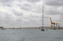 The Tallest Mast On The Biggest Sailing Yacht Or Boat Stock Photos
