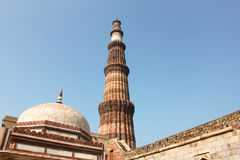 Tallest minaret in India - Qutab Minar , Delhi India Royalty Free Stock Photography