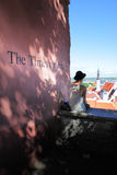 The Times We Had. Talliin, Estonia - July 24, 2017:  Viewing point on Toompea Hill in Tallin and sentence `The Times We Had` on the wall Royalty Free Stock Images