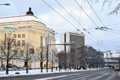 Talliinn,爱沙尼亚在冬天 库存照片