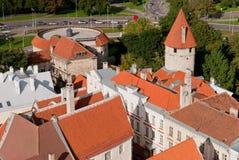 Tallin有历史的中心视图 库存图片