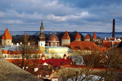 Tallin. The old town in dec.2008 Royalty Free Stock Image