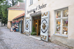 Tallin,august 23 2014-Amber Shop from Tallin in Estonia Stock Images