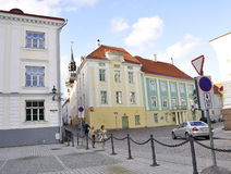 Tallin,august 23 2014-Downtown Building from Tallin in Estonia Royalty Free Stock Photos