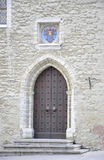 Tallin,august 23 2014-Old Door from downtown of Tallin in Estonia Royalty Free Stock Image
