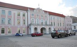 Tallin, 23 augustus de het 2014-parlement Bouw van Tallin van Estland Stock Fotografie