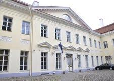 Tallin, 23 augustus de het 2014-parlement Bouw van Tallin van Estland Stock Afbeeldingen