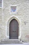 Tallin, 23 augustus 2014-oude deur van de stad in van Tallin in Estland Royalty-vrije Stock Afbeelding