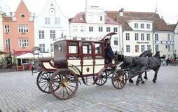Tallin, 23 augustus Vervoer 2014-Citytour van Tallin in Estland Royalty-vrije Stock Foto