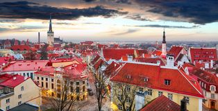Tallin city, Estonia at sunrise Stock Images