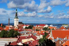 Tallin city view. In a crisp day Royalty Free Stock Photos