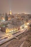 Tallin Cityscape. Winter time in December. Tallin, old town. Estonia Stock Image