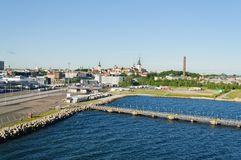 Tallin, de haven van Estland stock foto's