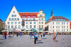 Main square of Tallin Royalty Free Stock Images