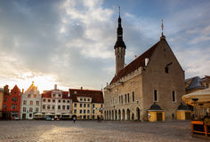 Tallin Maket square morning Royalty Free Stock Photography