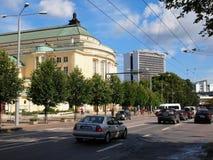 Tallin miasta ulicy widok. Tallinn Obraz Stock