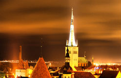 Tallin night Stock Images