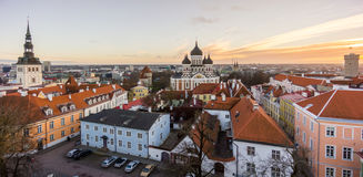 Tallin old city aerial view Royalty Free Stock Photography