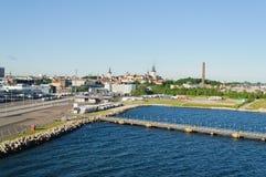 Tallin, porto dell'Estonia fotografie stock