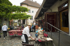 Tallin restaurant Stock Image