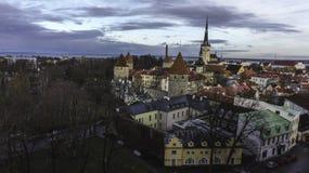 Tallin, separato, città, si rannuvola la città, città fotografia stock