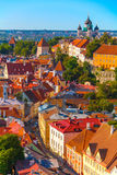 Tallin. Still living city-fortress with high walls and towers. Tallin, Estonia Stock Photo