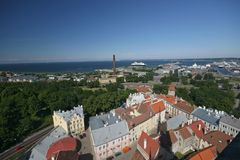 Tallin view 3. Tallin view from the rower od Saint Olaf's church Stock Photography