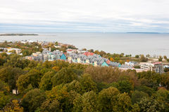 Tallin view with sea Royalty Free Stock Photography