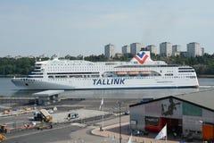 Tallink轮渡Romantika在斯德哥尔摩瑞典 图库摄影