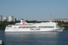 Tallink轮渡Romantika在斯德哥尔摩瑞典 免版税库存图片