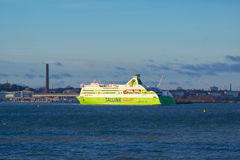 Tallink ferry docks in the harbor Royalty Free Stock Photography