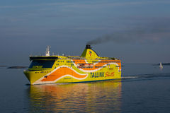 Tallink ferry goes over the Golf of Finland Royalty Free Stock Photography