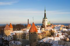 Tallinn. View on old city of Tallinn. Estonia Royalty Free Stock Image