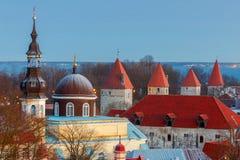 Tallinn. Aerial view of the city at dawn. Stock Photo