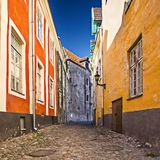 Tallinn Alleyway Stock Photography