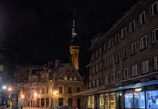 Free Tallinn At Night In Winter Stock Photography - 48487022
