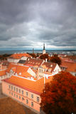 Tallinn autumn tilt-shift Stock Images