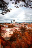 Tallinn autumn tilt-shift Stock Photography