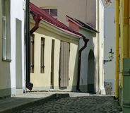 Tallinn back streets. A quiet corner of Tallinn's Upper Town Royalty Free Stock Images