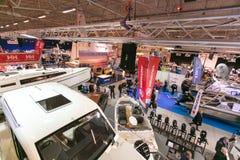 Tallinn Boat Show in Estonian Fairs Center Stock Photos