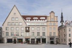 Tallinn byggnader Fotografering för Bildbyråer